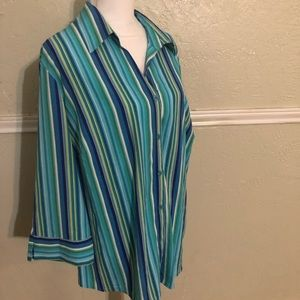 NWT Notations Button Down shirt